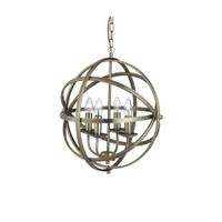 Searchlight 2474-4AB Orbit Antique Brass Ceiling Pendant