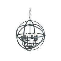 Searchlight 2476-6BK Orbit Black Ceiling Pendant