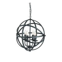 Searchlight 2474-4BK Orbit Black Ceiling Pendant