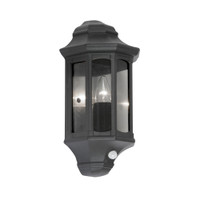 Oaks 815 PIR BK WESTMINSTER PIR Black Outdoor Wall Light