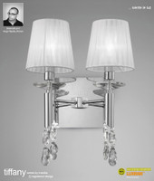Mantra M3863/S Tiffany 2L Wall light Polished Chrome
