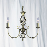 Searchlight 8393-3 Zanzibar 3 Light Ceiling Light Antique Brass