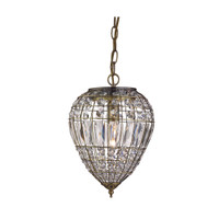 Searchlight 3991AB Antique Brass/Crystal Ceiling Pendant