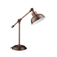 Searchlight 2017CU Macbeth Adjustable Copper Table Lamp