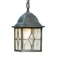 Searchlight 1641 Genoa Porch Light Black/Silver