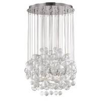 Ideal Lux 087924 SP14 Bollicine Ceiling Pendant Chrome & Glass