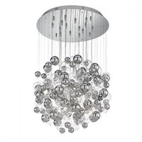 Ideal Lux 093024 SP14 Bollicine Ceiling Pendant Chrome & Glass