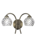 Franklite FL2358/2 Vortex Twin Wall Light Antique Brass