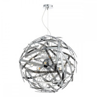 DLEMA101210 12 Light Ceiling Pendant Chrome