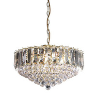 Endon FARGO-18BP Frago 3 Light Ceiling Pendant Brass
