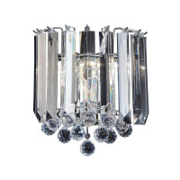 Endon FARGO-WBCH 2 Light Acrylic Wall Light Polished Chrome