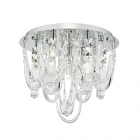Dar ROX5050 Roxanne 7 Light Ceiling Light Chrome