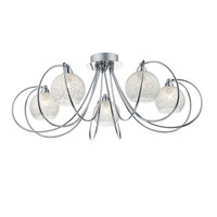 Dar RAF5450 Rafferty 5 Light Semi Flush Ceiling Light Chrome