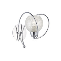 Dar RAF0750 Rafferty 1 Light Wall Light Chrome