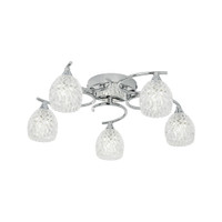 Endon BOYER-5CH Boyer 5 Light Flush Ceiling Light Chrome