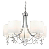 S9110555CC  5 Light Polished Chrome Ceiling Pendant