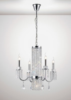 IL31542 Emily 5 Light Polished Chrome