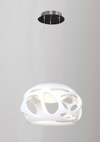 Mantra M5141 Organica 3 Light Elliptical White Pendant