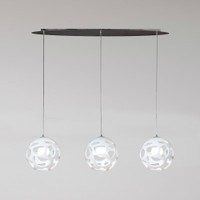 Mantra M5145 Organica 3 Light Linear Pendant