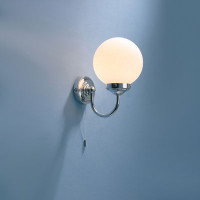 DAR BAR0750 Barclay Wall Light IP44 CHROME