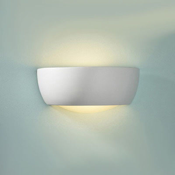 Small Ceramic Wall Lights : DAR MIL372 Milo Small Ceramic Wall Light 60W (Paintable) - Home Lighting Store UK