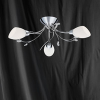 Searchlight 1763-3CC Gardenia 3 Light Ceiling Light Polished Chrome