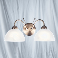 Searchlight 1132-2AB Milanese Twin Wall Light Antique Brass