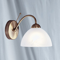 Searchlight 1131-1AB Milanese 1 Light Wall Light Antique Brass