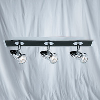 Searchlight 7493 Comet Three Bar Spotlight Chrome & Black