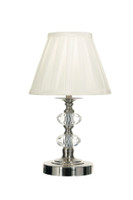 DAR HAZ4046 Hazel crystal TOUCH lamp Satin chrome