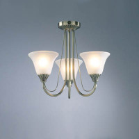 DAR BOS03 Boston 3 Light Ceiling Light Antique Brass