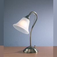 DAR BOS40 Boston Table Lamp Antique Brass