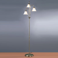 DAR BOS49 Boston Floor Lamp Antique Brass