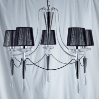 Searchlight 2085-5CC Duchess 5 Light Chrome Chandelier
