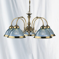 Searchlight 9345-5 American Diner 5 Light Ceiling Light Antique Brass