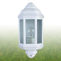 Searchlight 280WH Economy Outdoor Half Lantern White