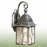 Searchlight 1642 Genoa Lantern IP23 Black/Silver 60W