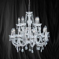 Searchlight 399-12 Marie Therese 12 Light Chrome Chandelier
