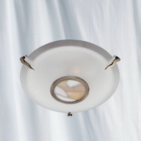 Searchlight 36095AM Flush Ceiling Light Antique Brass