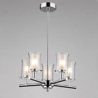 DAR ELB0550 Elba 5 Light Bathroom Ceiling Light Polished Chrome