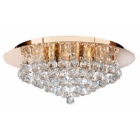 Searchlight 3406-6GO Hanna 6 Light Gold & Crystal Ceiling Light