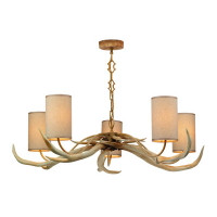 David hunt ANT0549 Antler 5 Light pendant