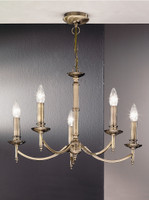 Franklite FL2091/5 Petrushka 5 light chandelier Bronze