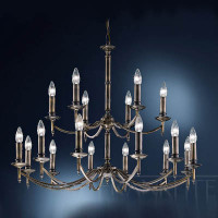 Franklite FL2091/18 petrushka 18 light chandelier bronze