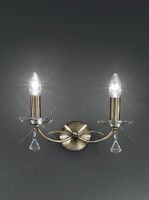 Franklite FL2228/2 Monaco Twin Crystal Wall Light Bronze