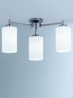 Franklite CO9313/727 Decima 3 light semi flush Satin nickel
