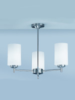 Franklite CO9303/727 Decima 3 light Satin nickel Ceiling Light