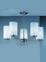 Franklite CO9305/727 Decima 5 light Satin nickel Ceiling Light