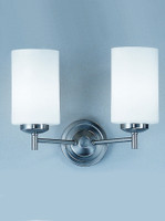 Franklite CO9302/727 Decima twin wall light Satin nickel