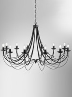 Franklite FL2173/12 Philly 12 light ironwork chandelier satin black